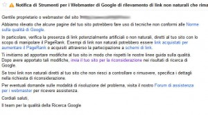 messaggio web master tool